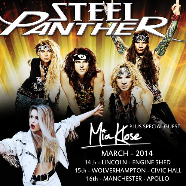 Mia Klose with Steel Panther