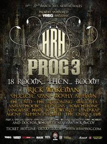 King of the keyboards  Rick Wakeman will be playing next years HRH Prog 3