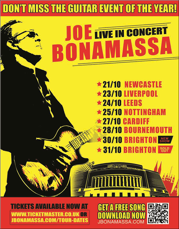 bonamassa uk tour dates poster
