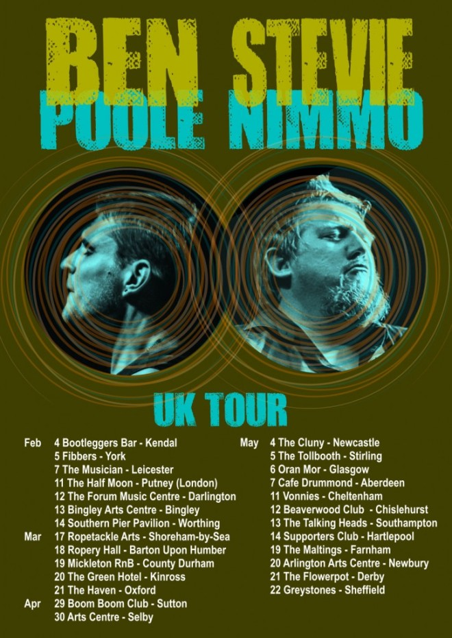 ben poole tour poster