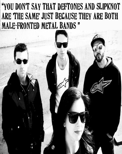 you don't say that Deftones and Slipknot are 'the same' just because they are both male-fronted metal bands...