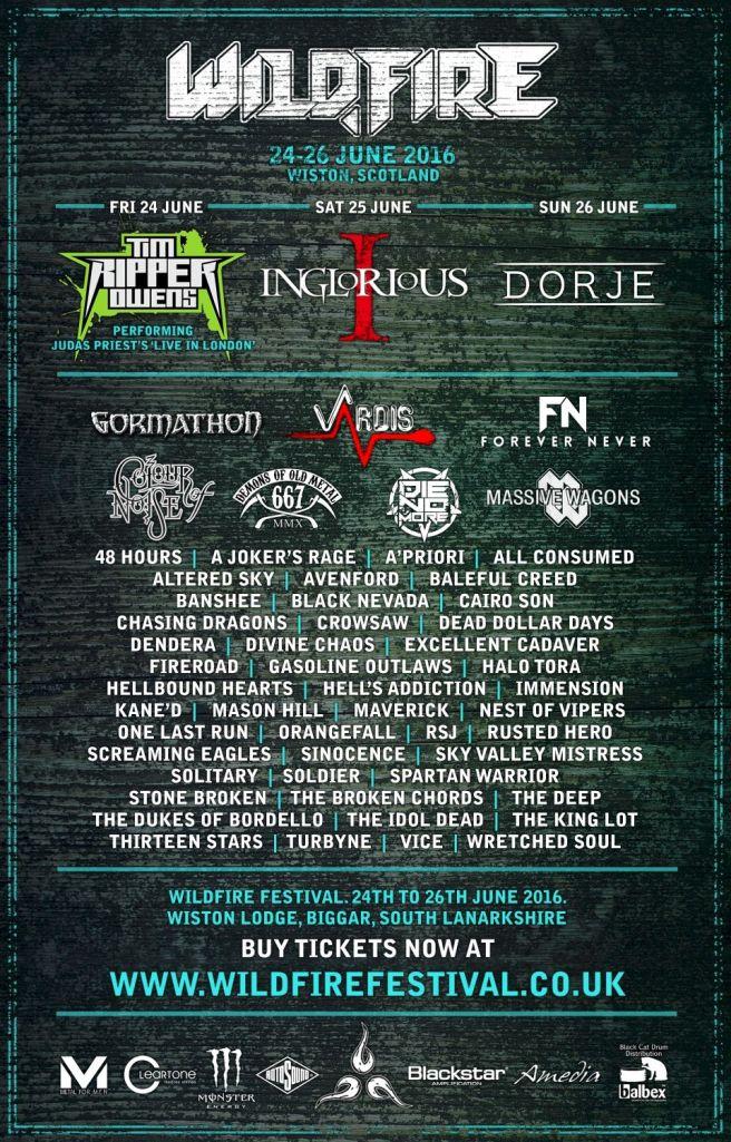 Scotland's Rock and Metal Festival. 24-26 June 2016