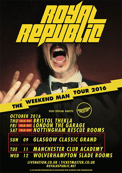 Royal Republic Weekend Man European tour