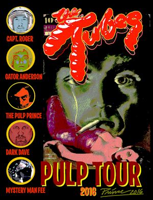 The bands histrionic, quasi-pornographic and satirical theatrics take on the media, consumerism, and politics. The songs and stories are led by singer Fee Waybill's half-crazed on-stage characters, including the larger-than-life counterfeit British glam rock star Quay Lewd...
