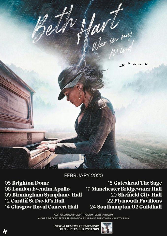 Beth Hart UK tour poster
