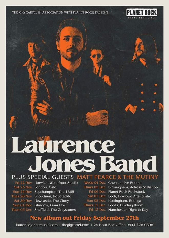 Laurence Jones Tour Poster 2019