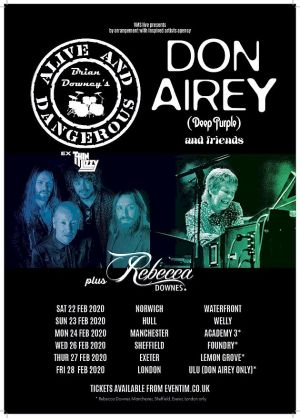 Alive and Dangerous Tour with Don Airey 2020