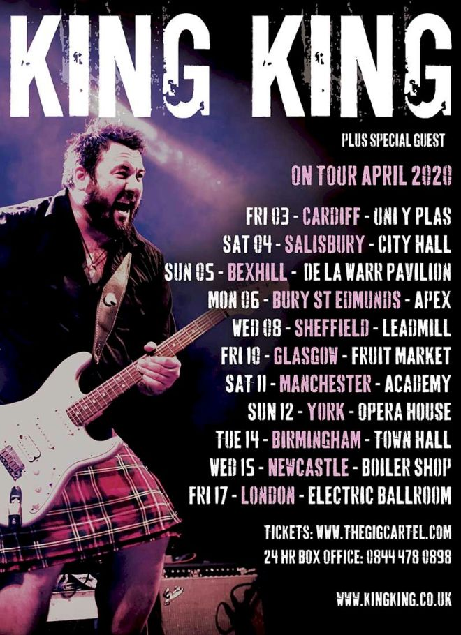 King King 2020 Tour Poster