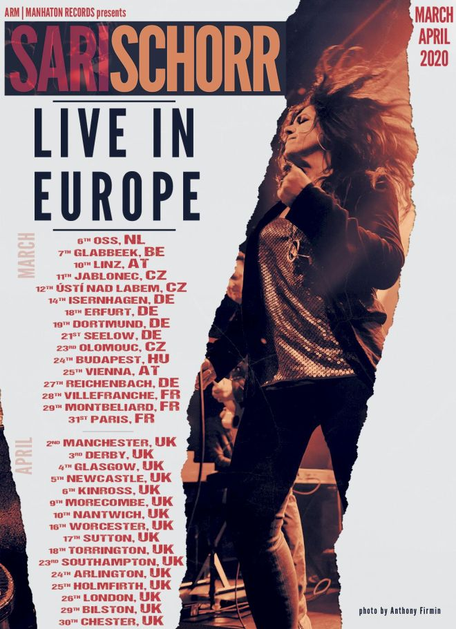 Sari Schorr Back in Europe Poster