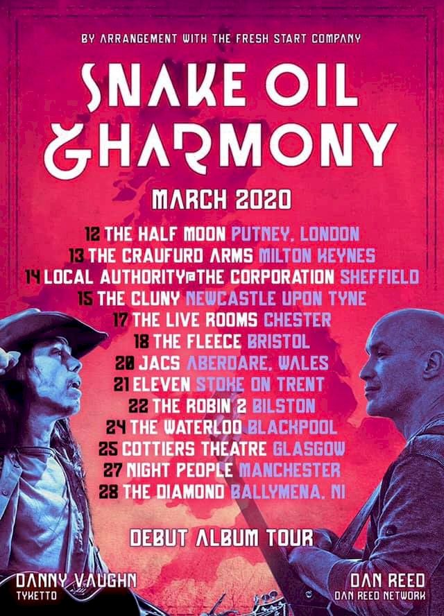 Snake Oil and Harmony Tour Poster