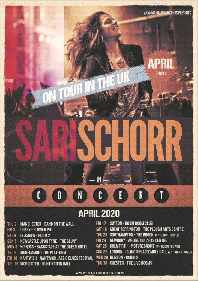 Sari Schorr Tour Poster