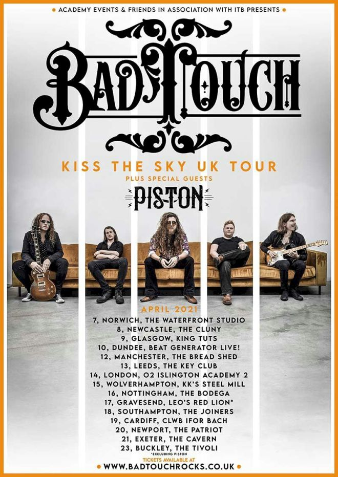 BAD TOUCH tour dates