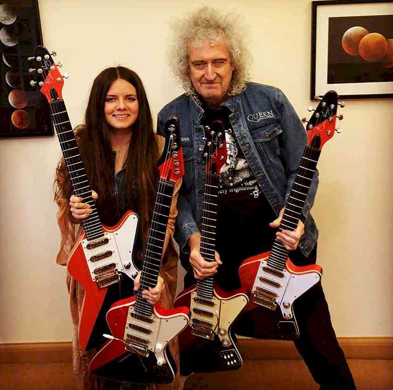 With Brian May