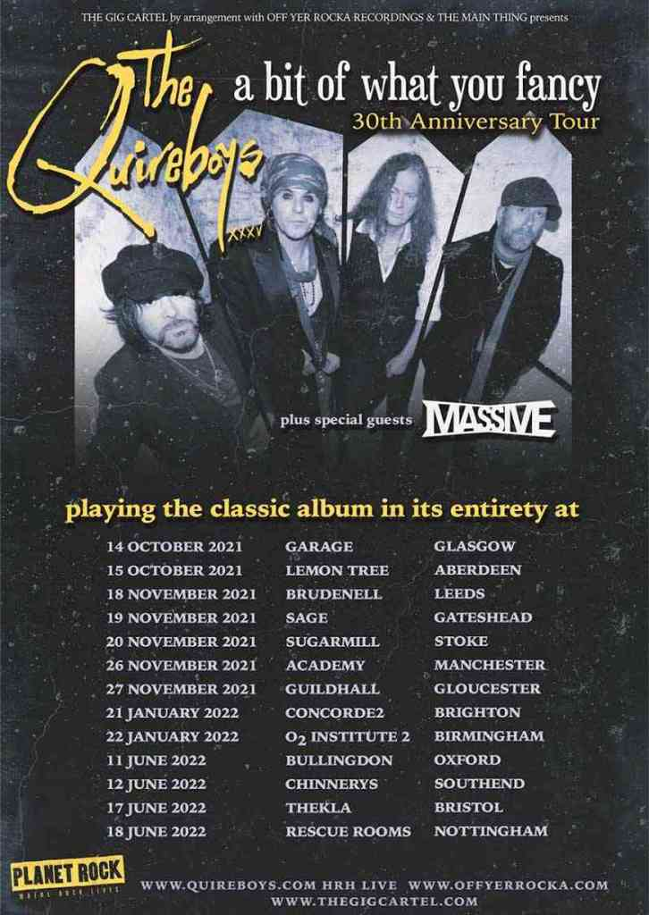 The Quireboys Tour Poster