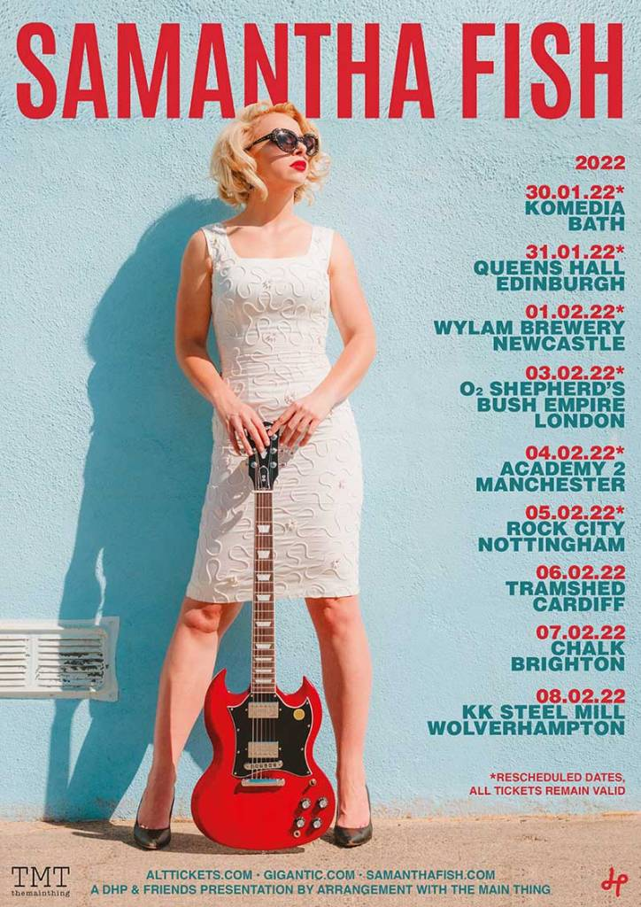 Samantha Fish rescheduled  UK Tour Dates