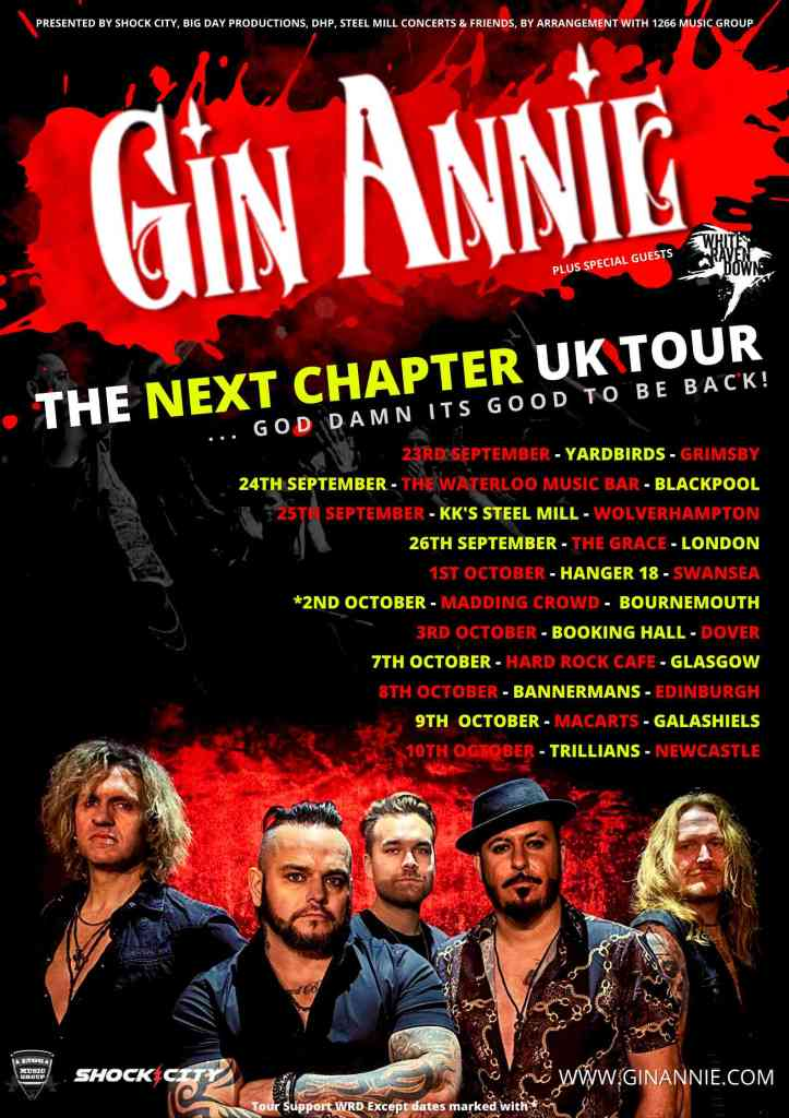 GIN ANNIE next chapter tour