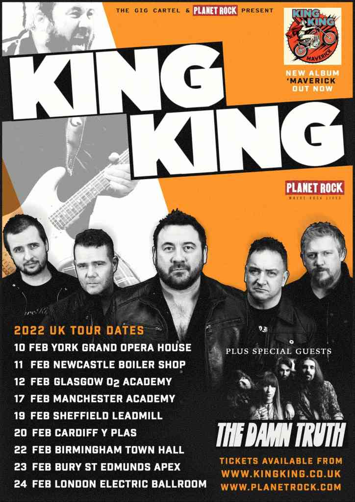 KING KING Tour Dates, with special guests The Damn Truth