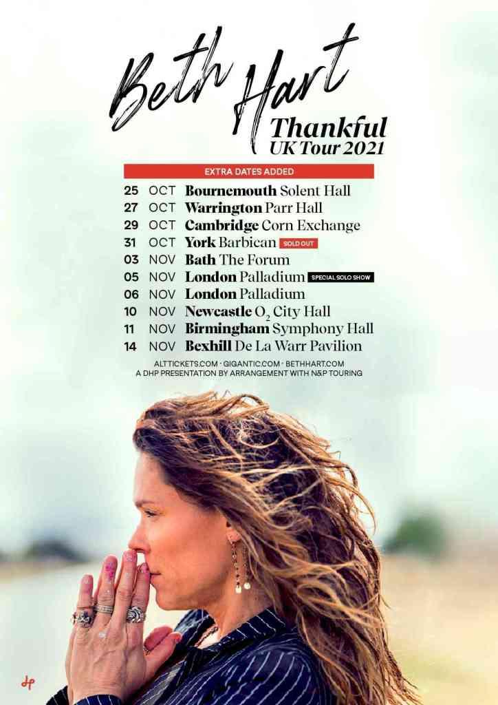 Beth Hart Thankful Tour Dates