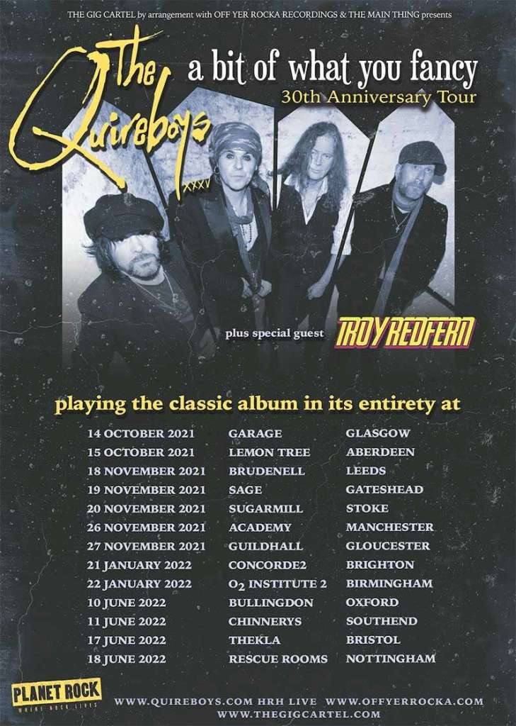 Quireboys Tour Poster