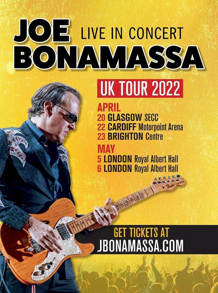 J Bonamassa concert dates UK 2022